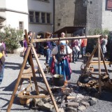 A medieval faire in a real castle!